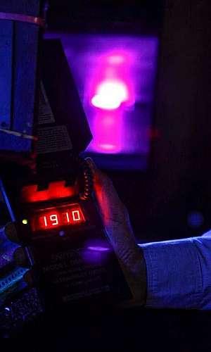 Calibração de medidor de luz negra