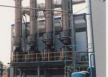 Lavador de gases para cabine de pintura