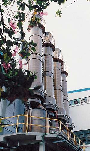 Lavador de gases para forno a lenha